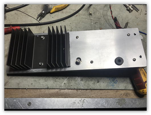 Rear Panel & PA Stage Heatsink