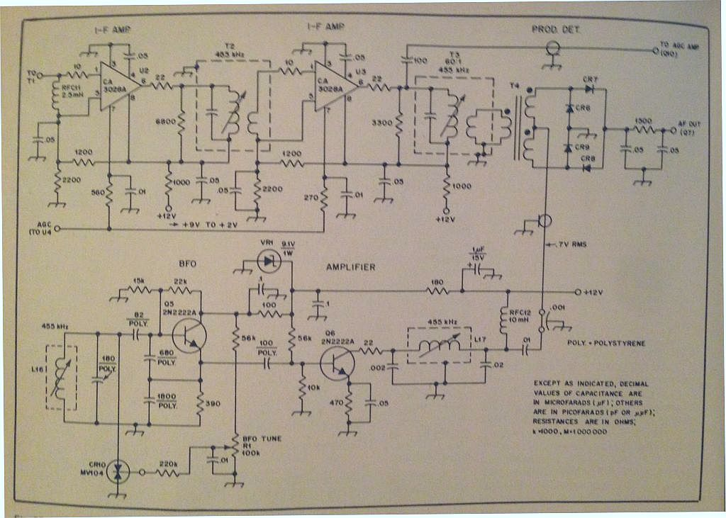 CA3028A IF Amplifier Circuit